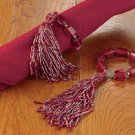 Tassel Napkin Ring Set