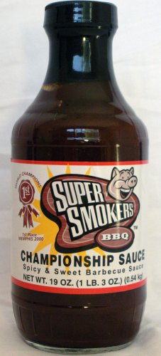 Super Smokers Championship BBQ Sauce Spicy & Sweet Barbecue Sauce Super Smoker's Bar-B-Que