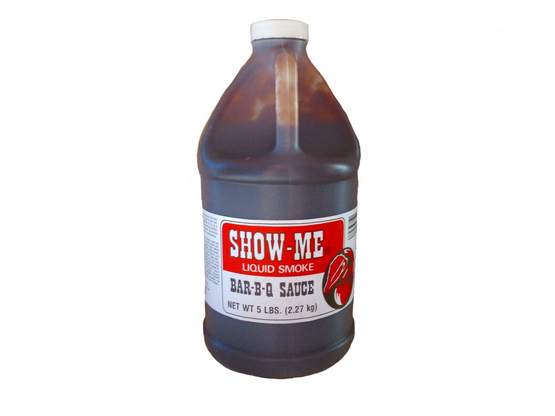 Half Gallon Show-Me Liquid Smoke Bar-B-Que Sauce 5 lbs bottle