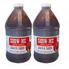 Two Half Gallon Show-Me Liquid Smoke Bar-B-Que Sauce 5 lbs bottles