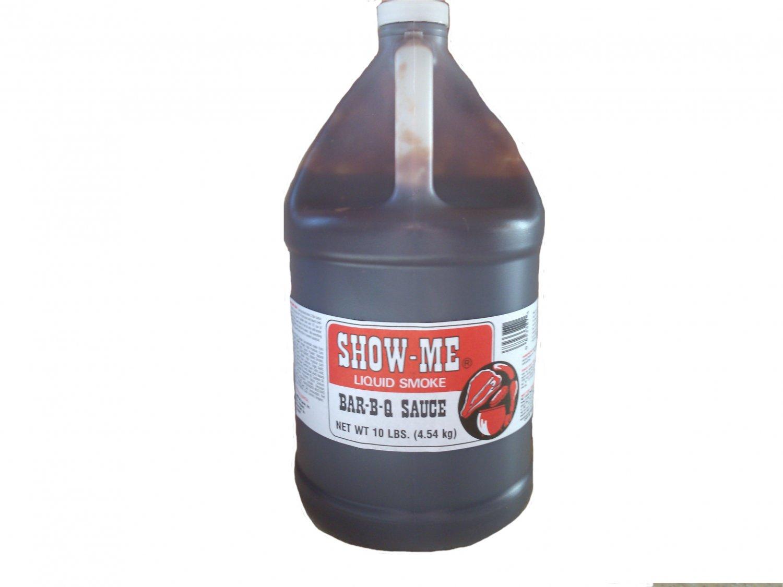 One Gallon Show-Me Liquid Smoke Bar-B-Que Sauce 10 lbs bottle
