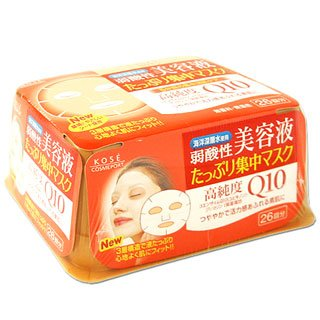 KOSE Clear Turn Q10 Essence Mask(26pc)