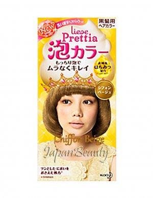 Kao Prettia Soft Bubble Hair Color Chiffon beige