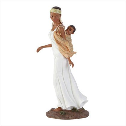 African American Mother And Child Figure