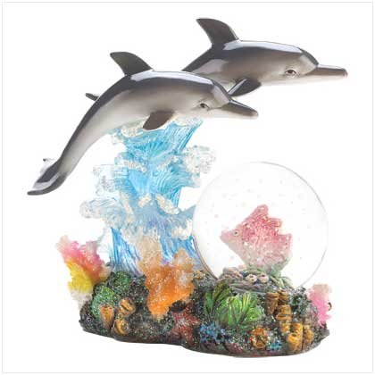 DAZZLING DOLPHINS WATERGLOBE
