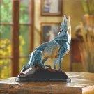 MARBLIZED WOLF FIGURINE