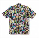 GAMES GALORE MEN CAMP SHIRT M