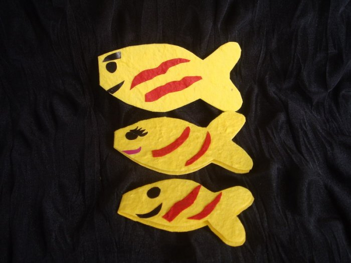 fish family cards set