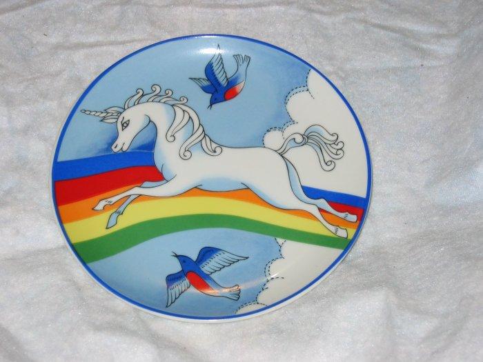 vintage unicorn plate #2 FREE US SHIPPING