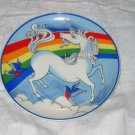 vintage unicorn and rainbow plate #4 FREE US SHIPPING