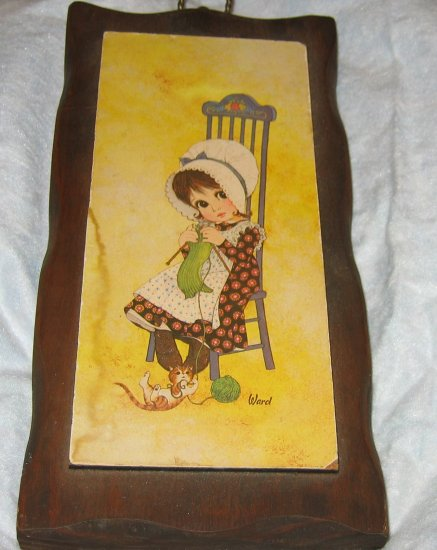 Holly Hobby! I think, maybe Sun Bonnet Sue def 70's FREE US SHIPPING
