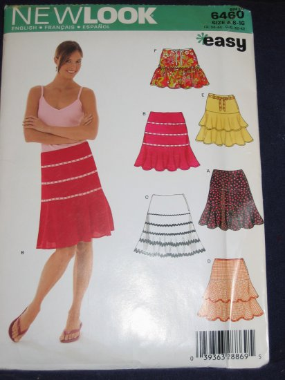 New Look pattern 6460 Size A 6-16 uncut out of print pattern FREE US SHIPPING