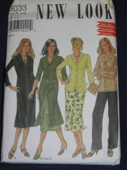 New Look pattern 6033 Size A 6-16 uncut out of print pattern FREE US SHIPPING