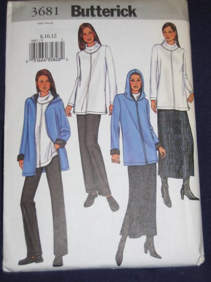 Butterick pattern number 3681 size 8/10/12 uncut FREE US SHIPPING