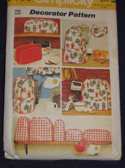 1972 Simplicity pattern 5495 kitchen decor  Out Of Print FREE US SHIPPING