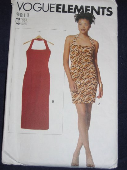 Vogue Elements pattern 9811 size Med OOP? great little wiggle dress FREE US SHIPPING