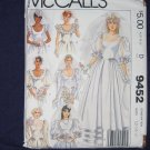 1985 Uncut/Out of Print WEDDING DRESS pattern McCalls 9452 size 12/14/16 FREE US SHIPPING