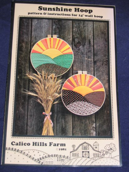"""VTG pattern """"Sunshine"""" hoop or use as quilt square uncut out of print FREE US SHIPPING"""