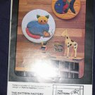 "VTG pattern ""Cat"" and ""Fish"" hoops or use as quilt square uncut out of print FREE US SHIPPING"