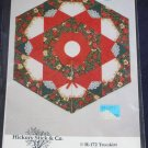 VTG Starlit Rose Garden quilt pattern centerpiece/christmas tree skirt uncut FREE US SHIPPING