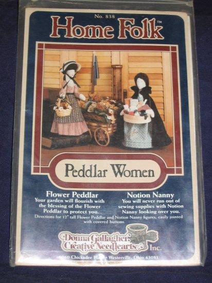 "1985 VTG ""Peddlar Women"" 12"" soft doll uncut pattern FREE US SHIPPING"