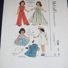 "McCalls 1728 Betsy McCall doll clothes pattern uncut 14"" Betsy, Toni; 16"" Toni FREE US SHIPPING"