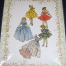 """Simplicity 4098 Ball Gown/Peignoir repro pattern for 18"""" dolls FREE US SHIPPING"""