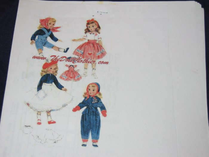 "McCalls 1720 vintage 18"" doll clothes uncut repro pattern FREE US SHIPPING"