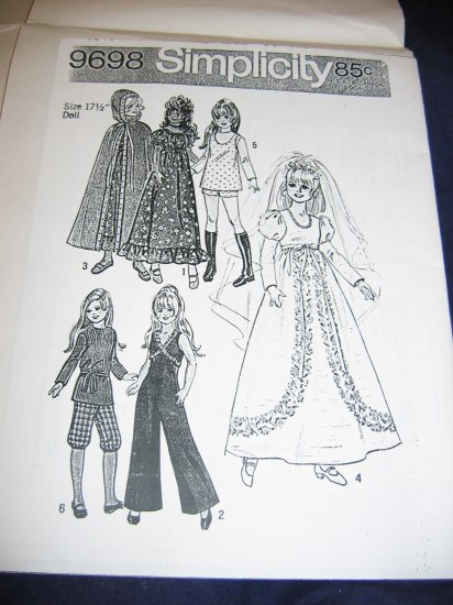 """15.5""""/17.5"""" Chrissy, Velvet, Kerry, Mia doll clothes pattern FREE US SHIPPING"""