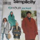 Simplicity 9744 2 hour fleece jacket uncut size xs/s/m FREE US SHIPPING