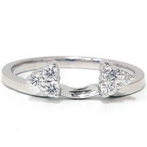 0.25CT DIAMOND GUARD RING WRAP ENHANCER WOMENS WEDDING ENGAGEMENT BAND RING 14K