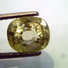 6.15 Ct Unheated Untreted Natural Ceylon Yellow Sapphire Pukhraj