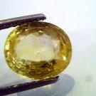4.90 Ct Unheated Untreted Natural Ceylon Yellow Sapphire Pukhraj