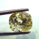 5.25 Ct Unheated Natural Ceylon Yellow Sapphire/Pukhraj A++