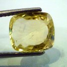 5.55 Ct Unheated Natural Ceylon Yellow Sapphire/Pukhraj AAA