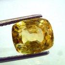 6.70 Ct Unheated Natural Ceylon Yellow Sapphire/Pukhraj AAAA