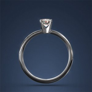 Diamond Engagement Ring Solitaire 0.52ct F SI 14k White Gold White Gold