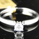 14K LADIES WHITE GOLD SOLITAIRE ROUND CUT DIAMOND BRIDAL ENGAGEMENT WEDDING RING