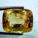 Huge 11.95 Ct Unheated Untreated Natural Ceylon Yellow Sapphire GII Certified