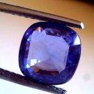 4.19 Ct Untreated Natural Ceylon Blue sapphire Premium Colour A+ Certified