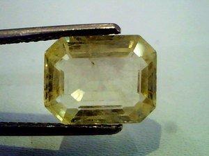 4.93 Ct Certified Unheated Untreated Natural Ceylon Yellow Sapphire/Pukhraj Gems