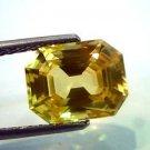 4.87 Ct IGI Certified Unheated Untreated Natural Ceylon Yellow Sapphire AAAAA