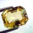 4.54 Ct Certified Unheated Untreated Natural CeylonYellow Sapphire AAAAA