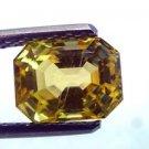 2.93 Ct Certified Unheated Untreated Natural Ceylon Yellow Sapphire Premium AAAA