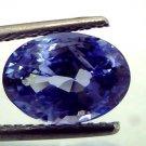 4.14 Ct Rare Unheated Jammu/Kashmir Origin Blue Sapphire **IGI**
