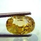 5.30 Ct IGI Certified Untreated Unheated Natural Ceylon Yellow Sapphire AAAAA