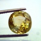 6.99 Ct GII Certified Unheated Untreted Natural Ceylon Yellow Sapphire/Pukhraj