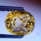 4.41 Ct Untreated Natural Ceylon Yellow sapphire Pukhraj Stone