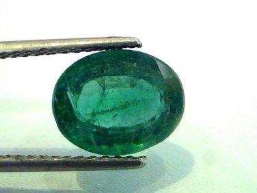 4.12 Ct Untreated  Unheated Natural Zambian Emerald Gemstone