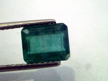 3.13 Ct Untreated  Unheated Natural Zambian Emerald Gemstone AAA
